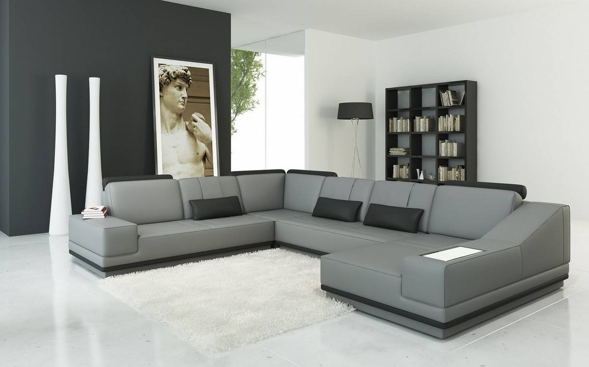 Sofas Center : And Grey Sectional Sofa Living Room Amazing L Light in Gray Leather Sectional Sofas (Image 27 of 30)