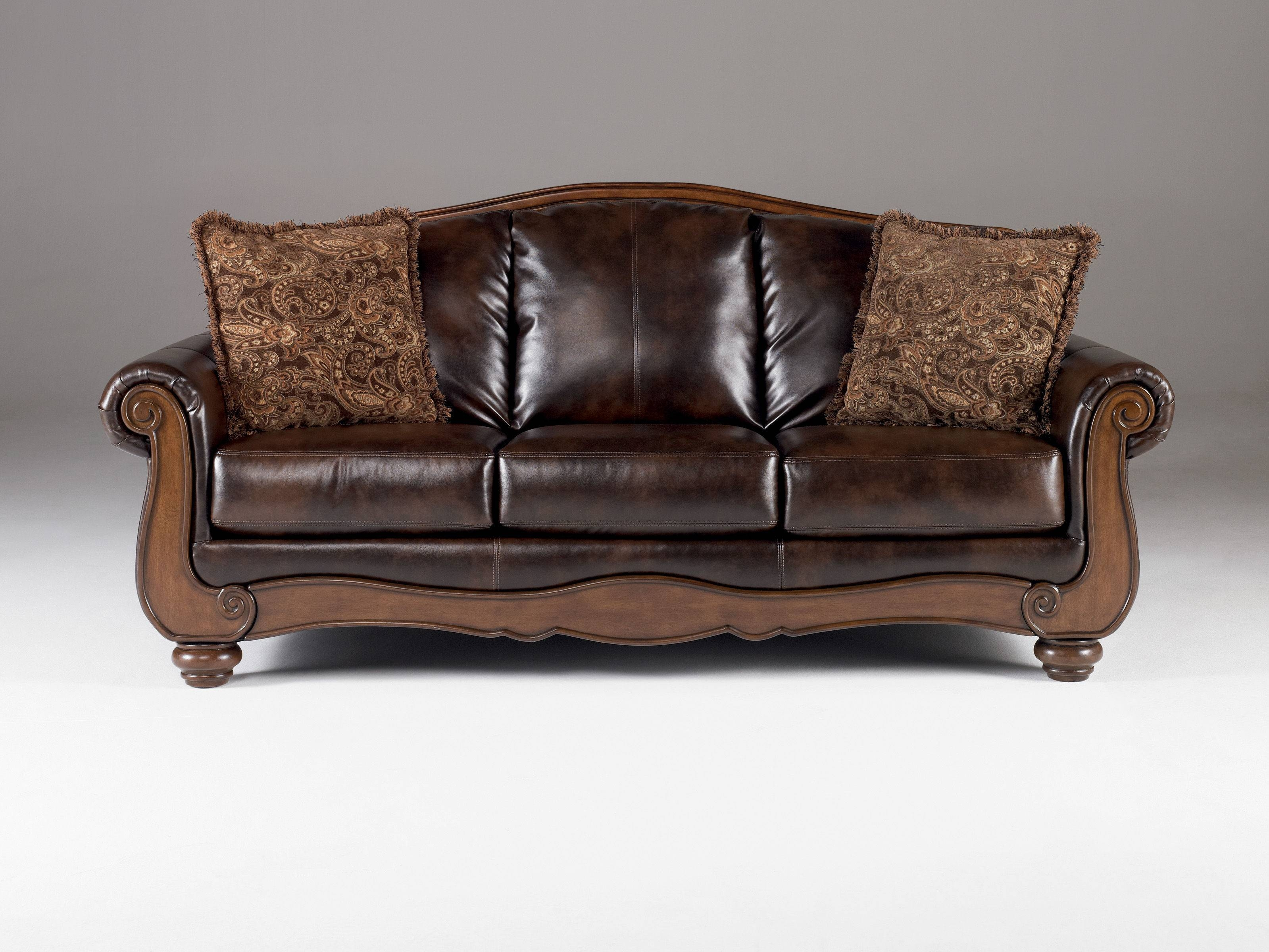 Sofas Center : Antique Sofa Set Barcelona Traditional Faux Leather With Vintage  Sofa Styles (Image