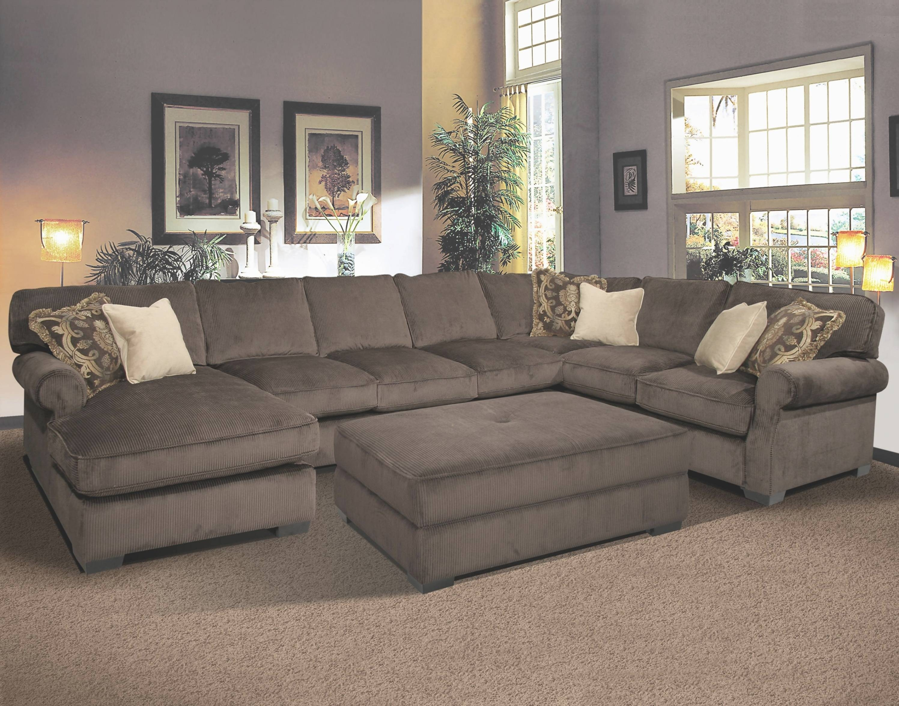 Sofas Center : Appealing Sectional Pit Sofa In Extra Wide Sofas inside Wide Sectional Sofa (Image 21 of 25)