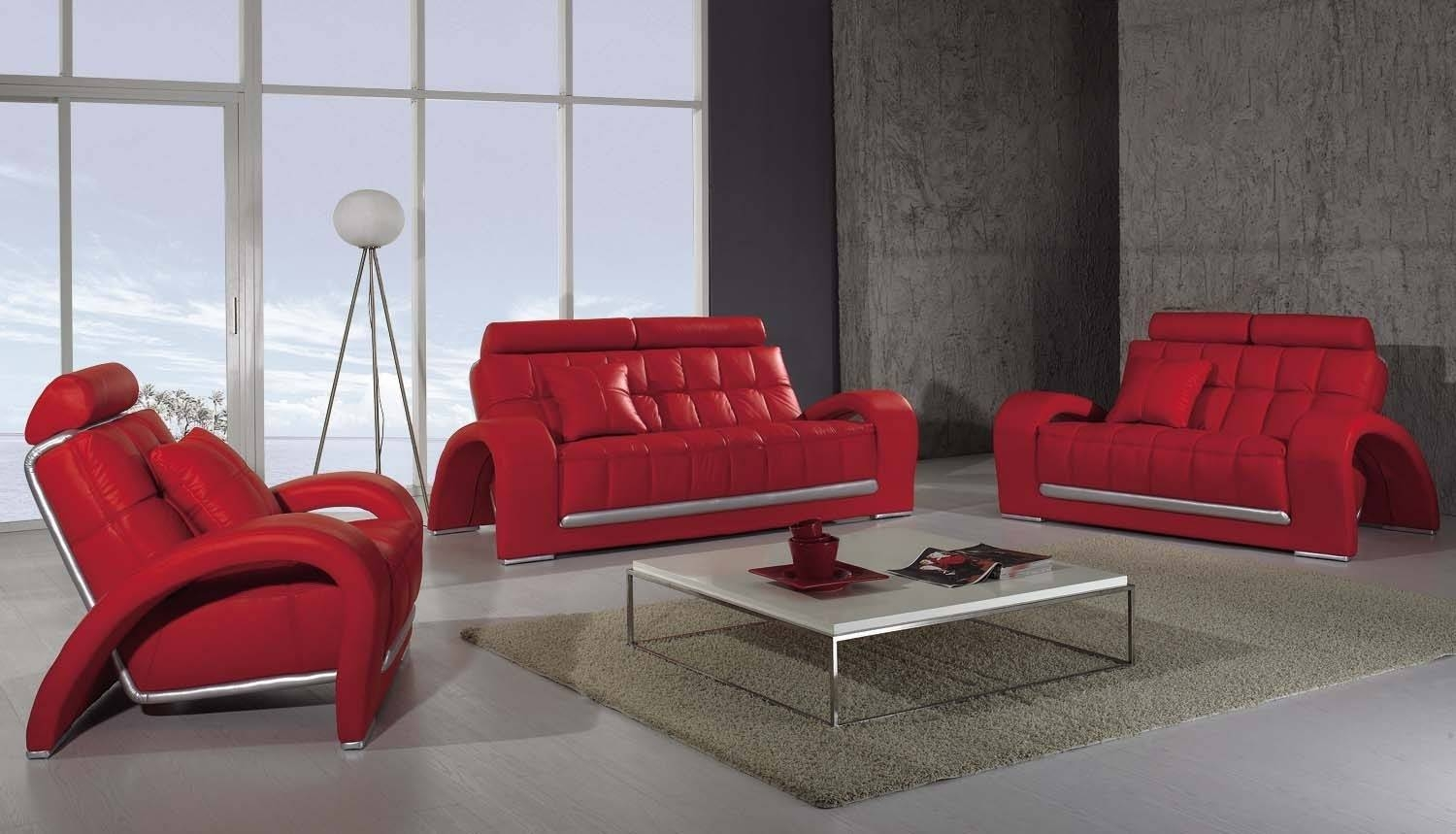 Sofas Center : Astounding Red Sofa Set Images Ideas Fabric Sets with regard to Red Sofas and Chairs (Image 27 of 30)