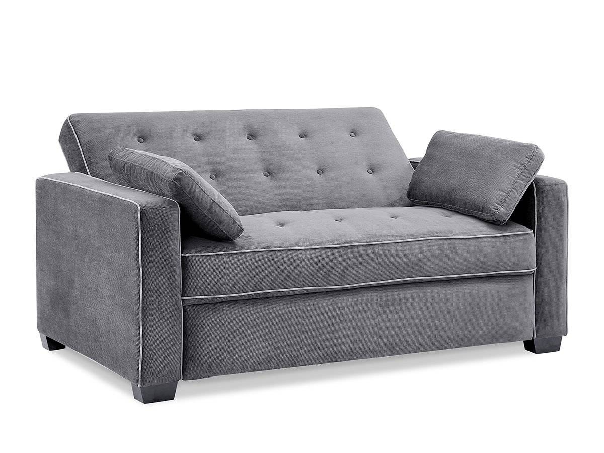 Sofas Center : Augustine Loveseat Sleeper Moon Greyserta throughout Unusual Sofa (Image 6 of 23)