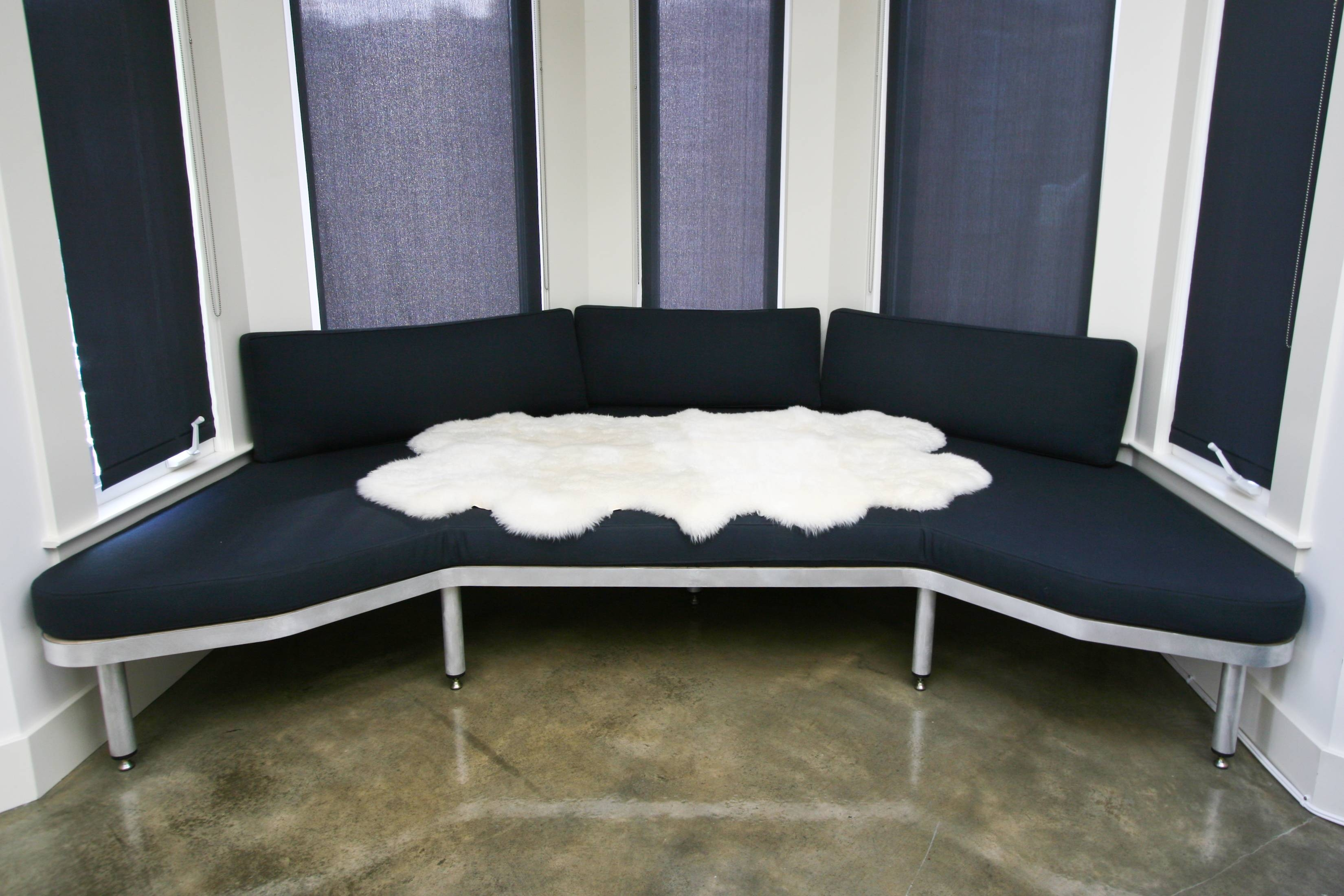 Sofas Center : Bay Window Sofa Cream In Front Of With Slatted within The Bay Sofas (Image 15 of 25)