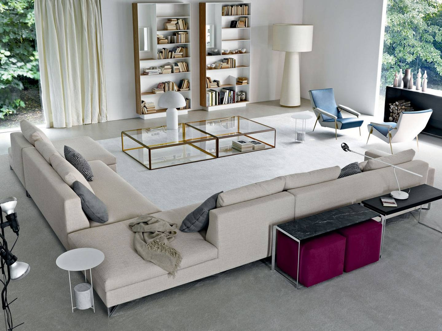 Sofas Center : Billie Jean Large Sectional Sofa With Double Chaise within Huge Sofas (Image 24 of 30)