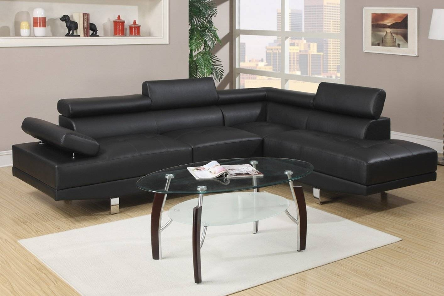 Sofas Center : Black Leather Sectional Sofa With Chaise Dobson inside Dobson Sectional Sofa (Image 17 of 30)