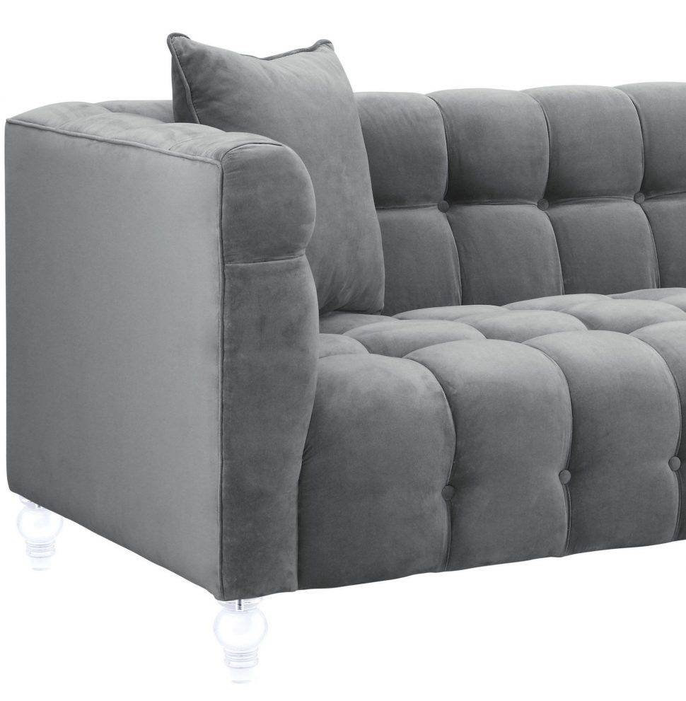Sofas Center : Black Velvet Sofa With Crystal Buttons Cover intended for Black Velvet Sofas (Image 23 of 30)