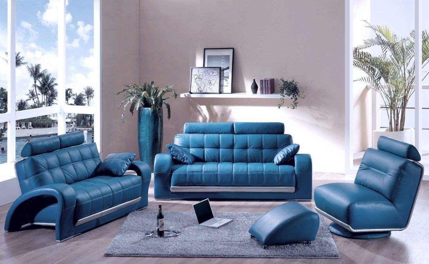 Sofas Center : Blue Leather Sofa Furniture Modern Mesmerizing within Blue Sofa Chairs (Image 26 of 30)