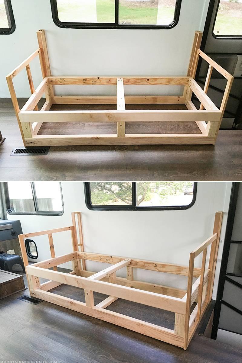 Sofas Center : Building Custom Sofa Frame Inside Rv in Diy Sofa Frame (Image 22 of 30)