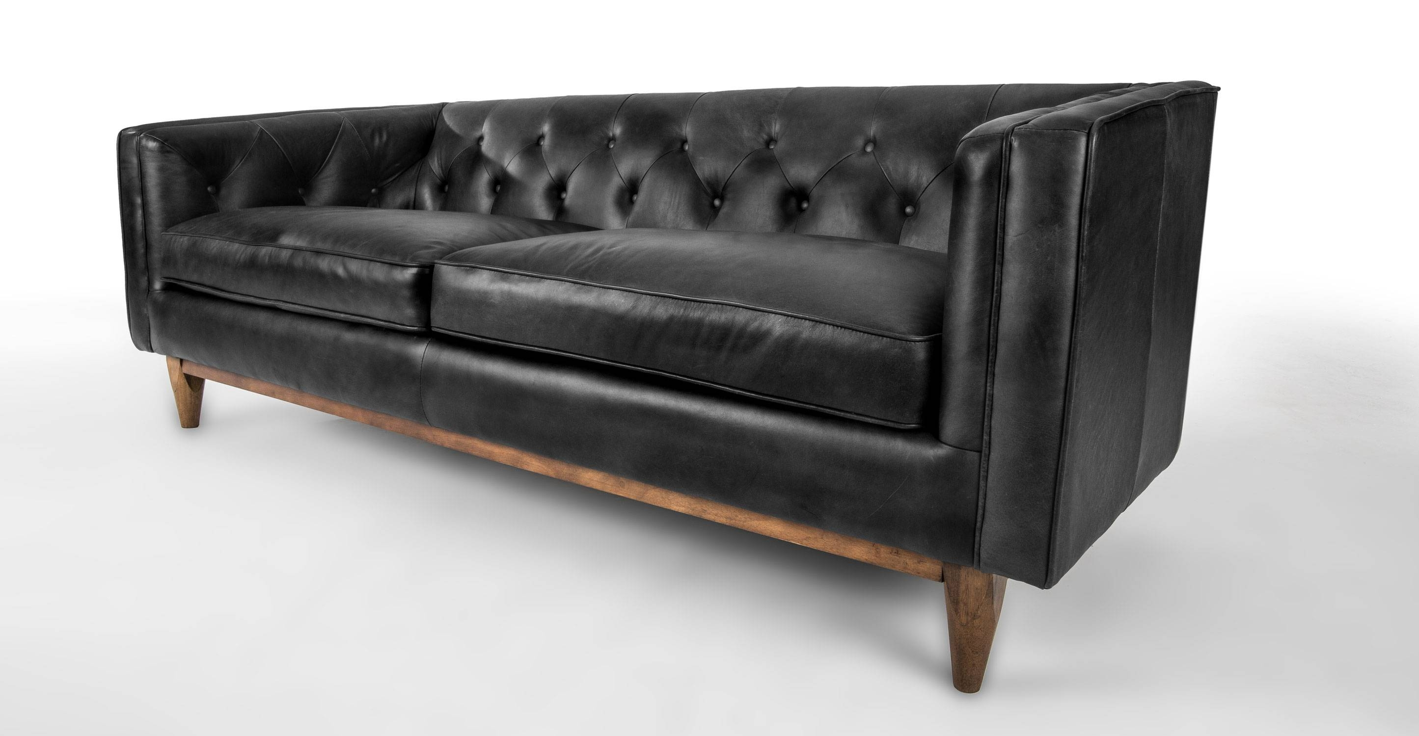 Sofas Center : Caramel Leather Mid Century Sofa Jcp Beigern inside Vintage Leather Sectional Sofas (Image 23 of 30)