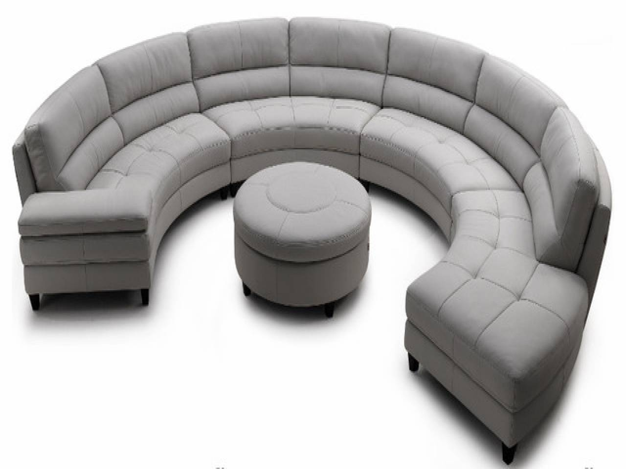 Sofas Center : Contemporary Sofas Half Round Sectional Sofa Circle Pertaining To Circular Sectional Sofa (View 28 of 30)