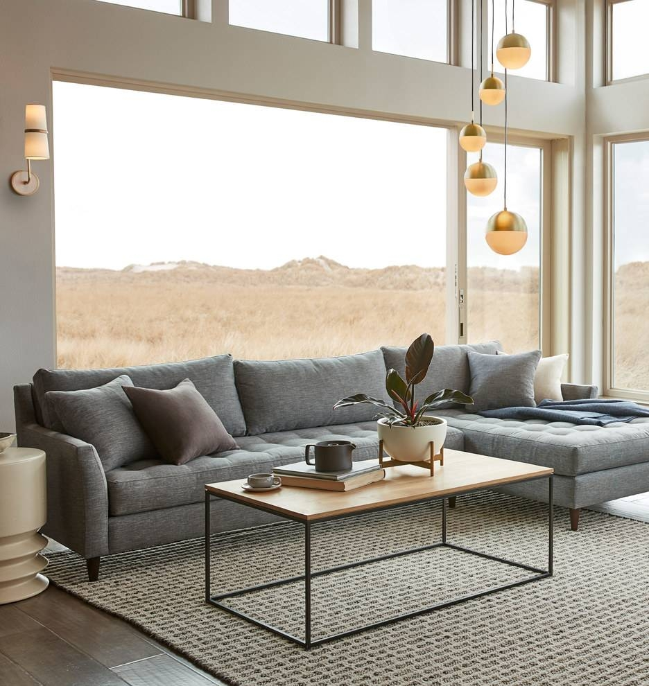 Sofas Center : Cozy Gray Sectional Sofa With Chaise Lounge In pertaining to Cozy Sectional Sofas (Image 21 of 30)
