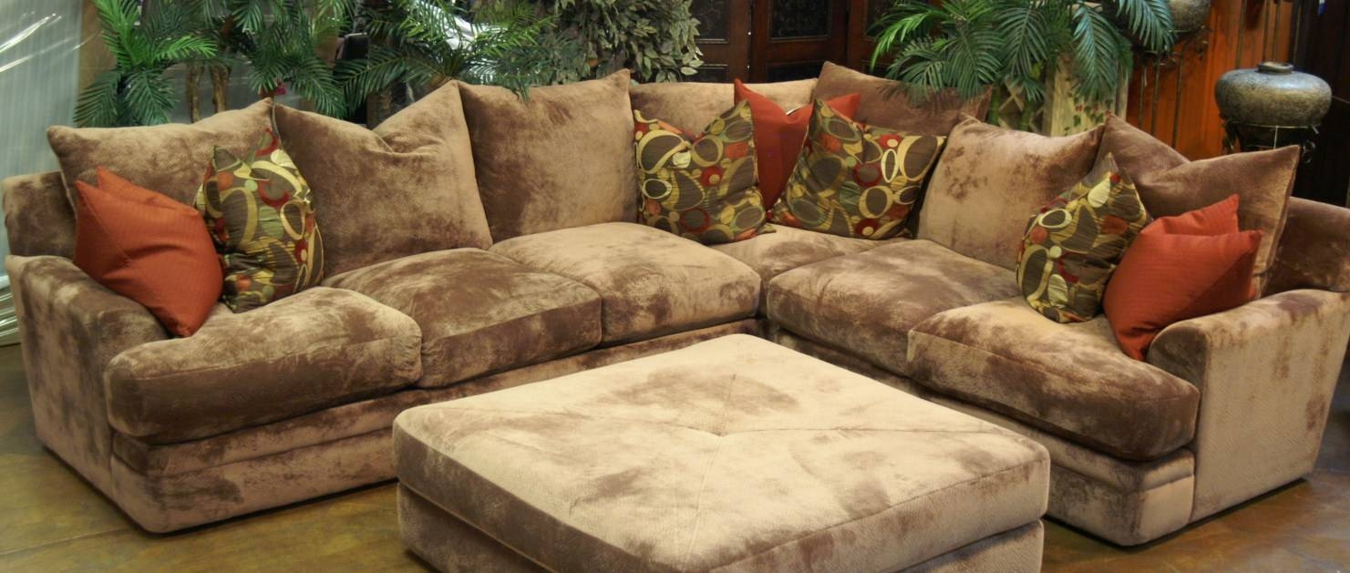 Sofas Center : Cozy Sectional Sofa With Chaise And Ottoman About within Goose Down Sectional Sofa (Image 13 of 25)