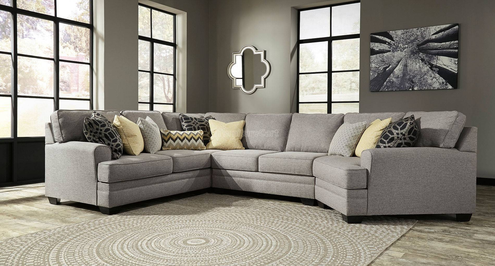 Sofas Center : Cuddler Sectional Sofa Gray Corner Aria Foresthill throughout Cuddler Sectional Sofa (Image 27 of 30)