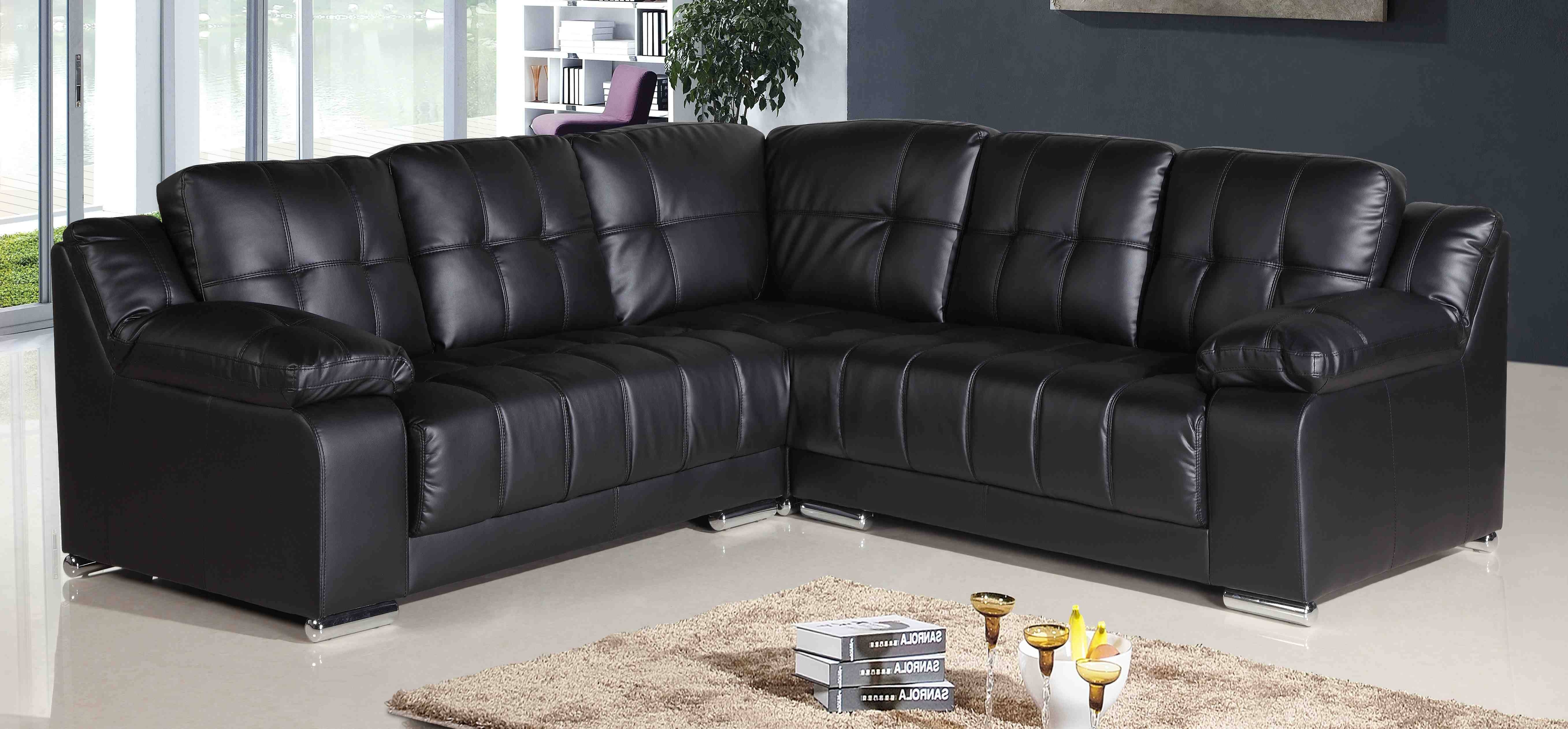 Sofas Center : Curved Sofa Couch Furniture Sectional Sofas For for Large Black Leather Corner Sofas (Image 24 of 30)