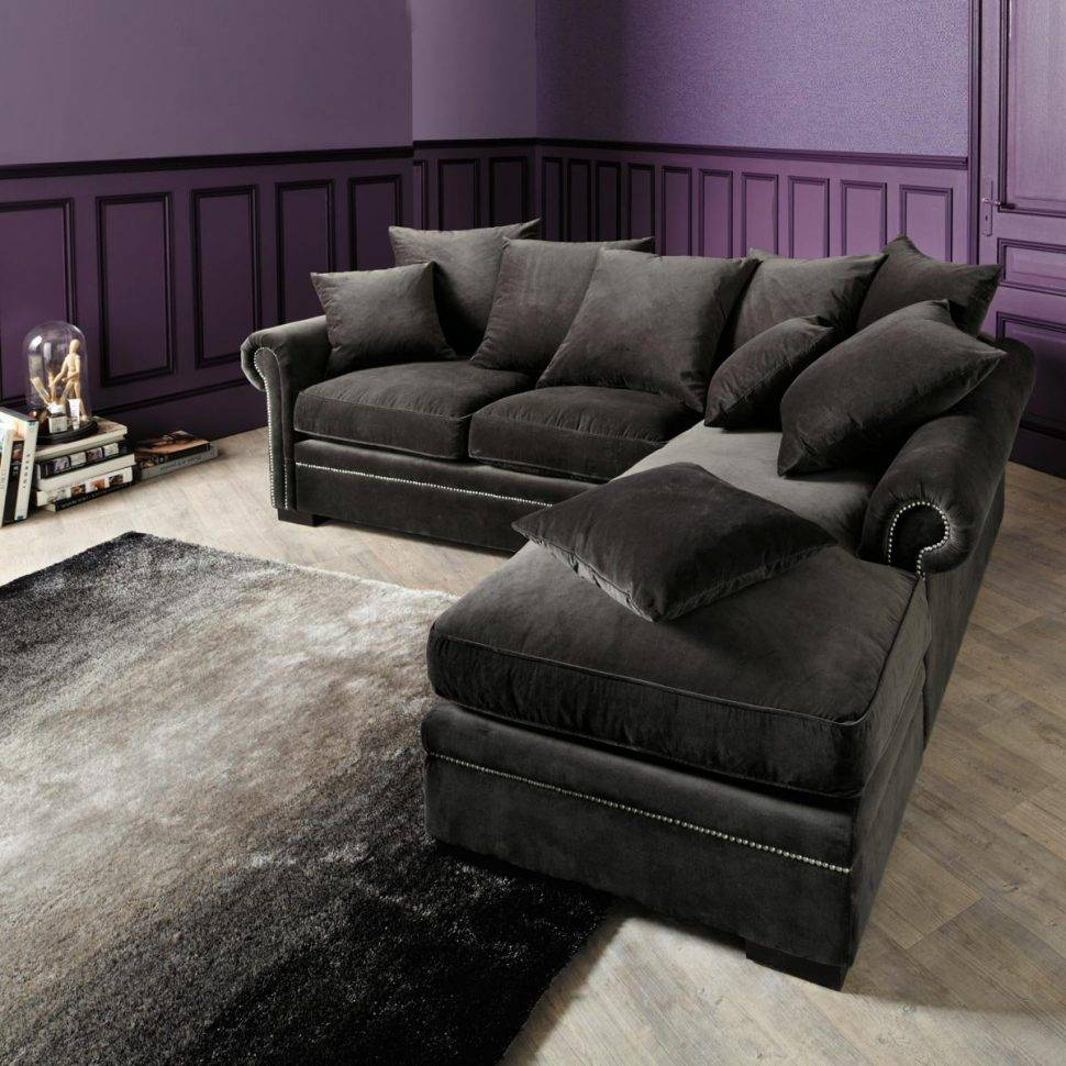 Sofas Center : Darkey Velvet Sectional Couch With Chaise And inside Charcoal Grey Sofas (Image 24 of 30)