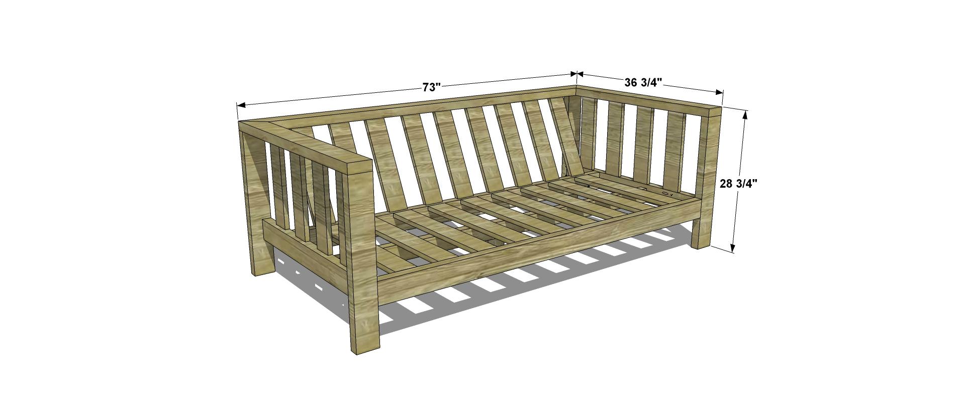 Sofa Frame Designs Plans Diy Free How To Build Corner