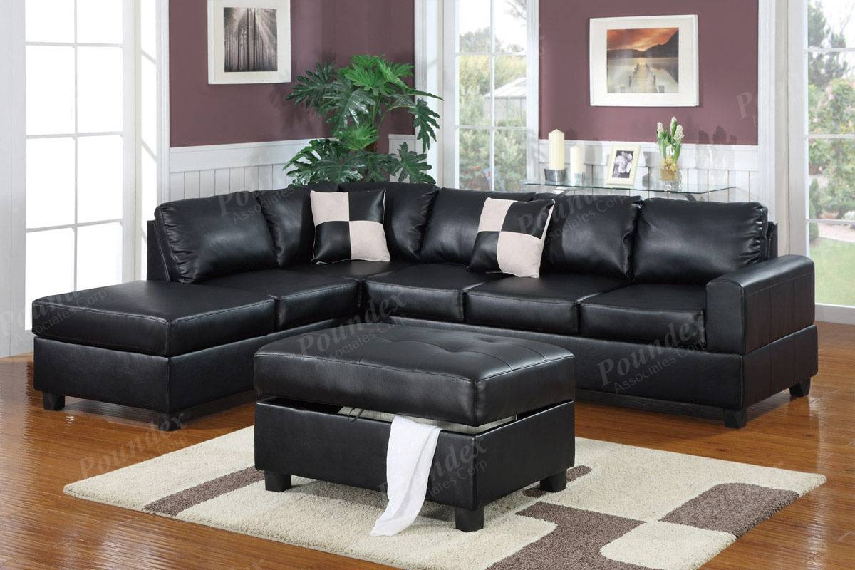 Sofas Center : Dobson Black Leather Modern Sectional Sofa inside Dobson Sectional Sofa (Image 21 of 30)