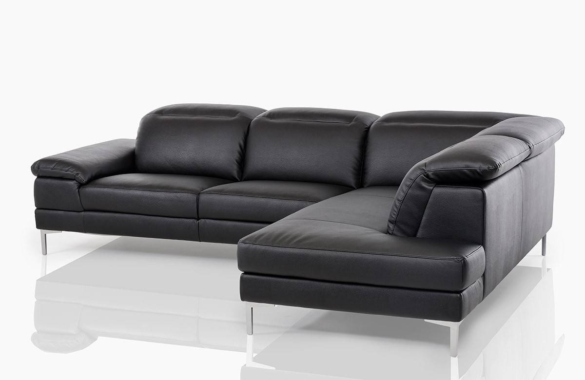 Sofas Center : Dobson Black Leather Modern Sectional Sofa within Dobson Sectional Sofa (Image 24 of 30)