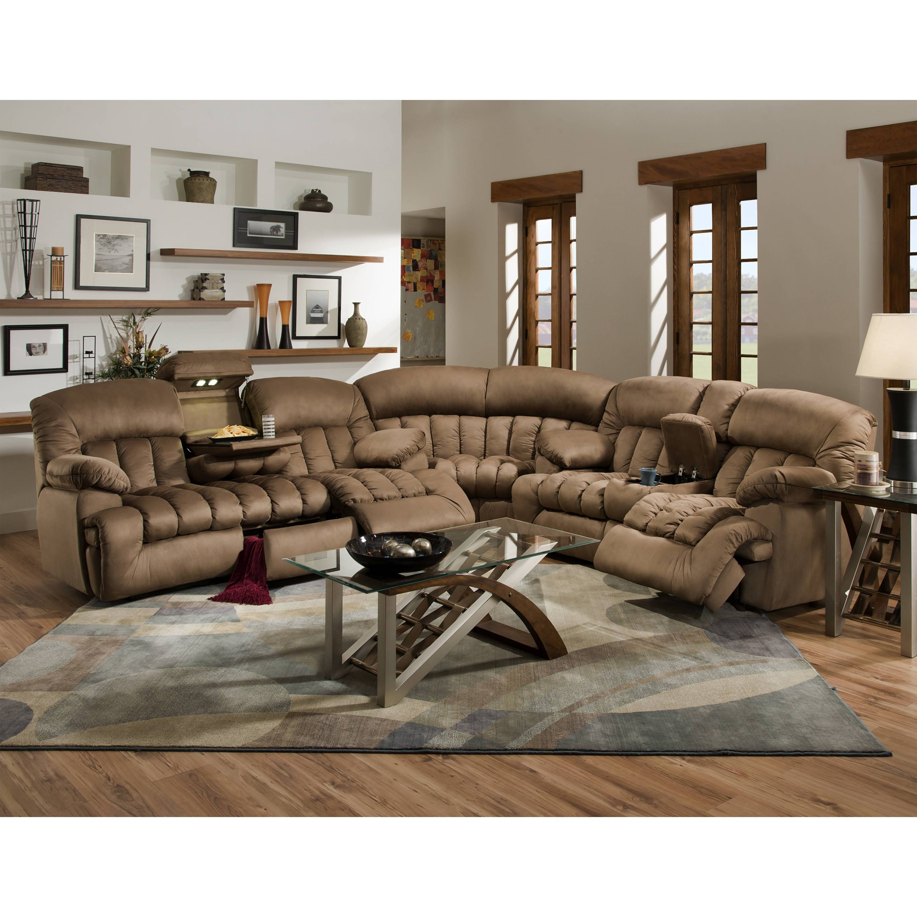 Sofas Center : Down Sectional Sofa Carrington Motion Brown Plush inside Goose Down Sectional Sofa (Image 17 of 25)