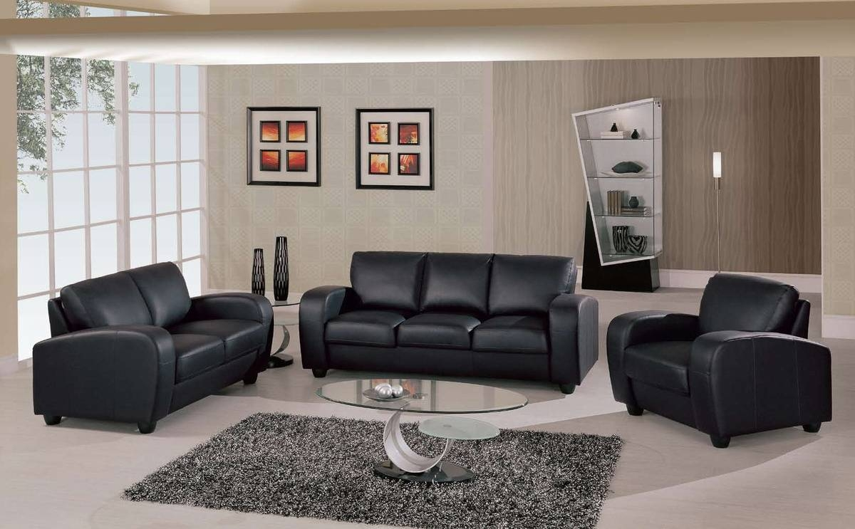 Sofas Center : Emejing Black Leather Couch Set Contemporary within Contemporary Black Leather Sofas (Image 24 of 30)
