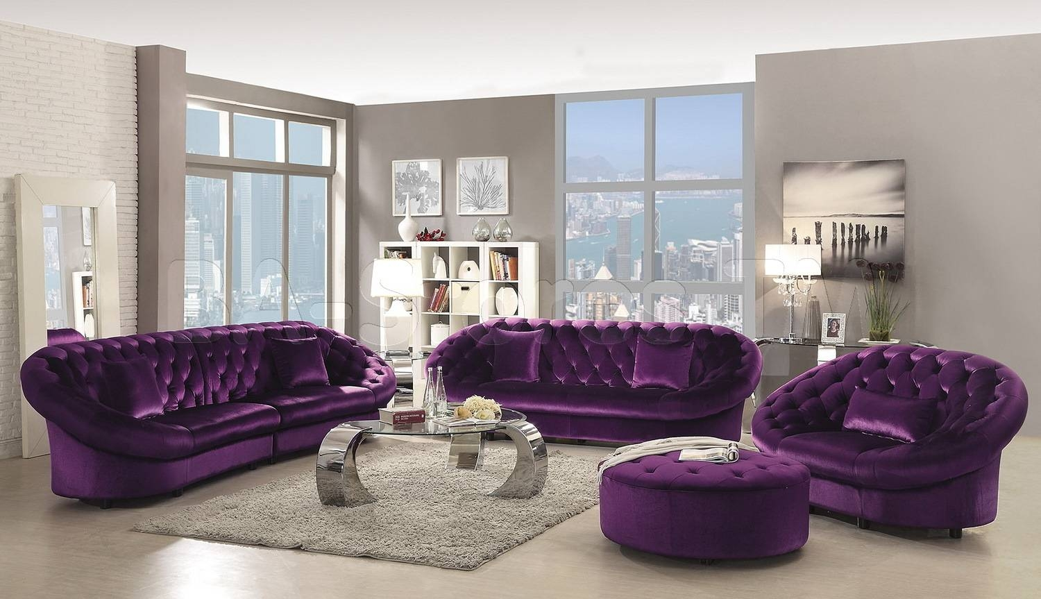 Sofas Center : Excellent Velvet Sectional Sofa With Chaise Home with Velvet Purple Sofas (Image 27 of 30)
