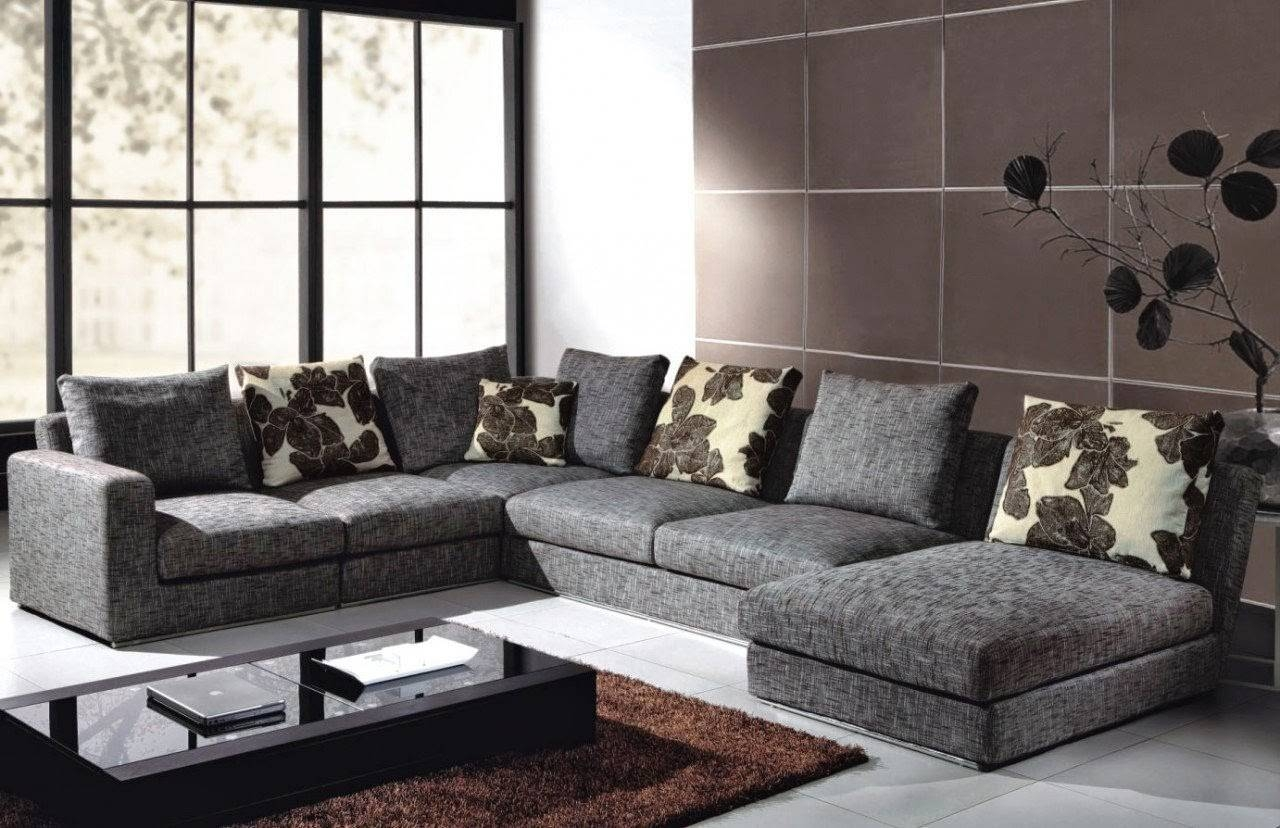 Sofas Center : Fearsome Grayonal Sofa Picture Design Modern with Modern Microfiber Sectional Sofa (Image 29 of 30)