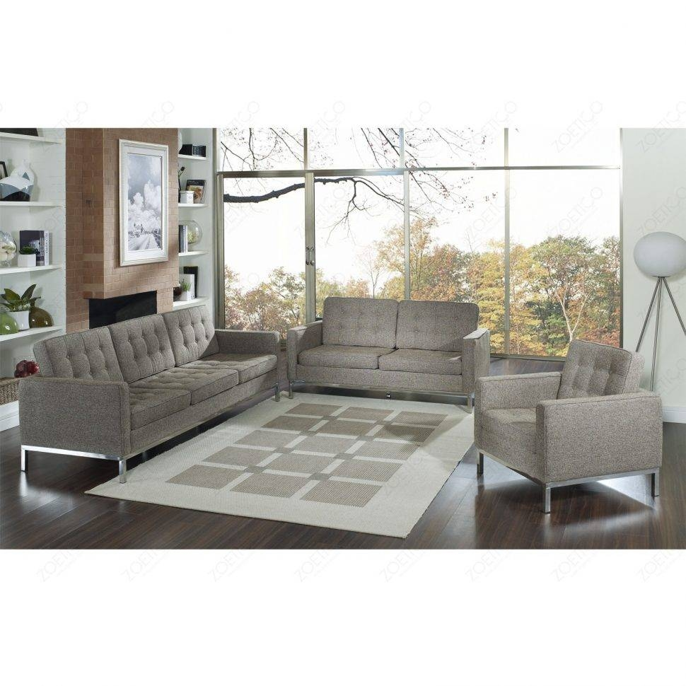 Sofas Center : Florence Knoll Sofa Leather And Chrome Plated Steel for Florence Large Sofas (Image 23 of 30)