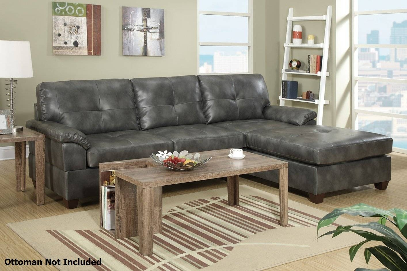 Sofas Center : Grey Sofa With Chaise Gray Leather Charcoal And with Gray Leather Sectional Sofas (Image 28 of 30)