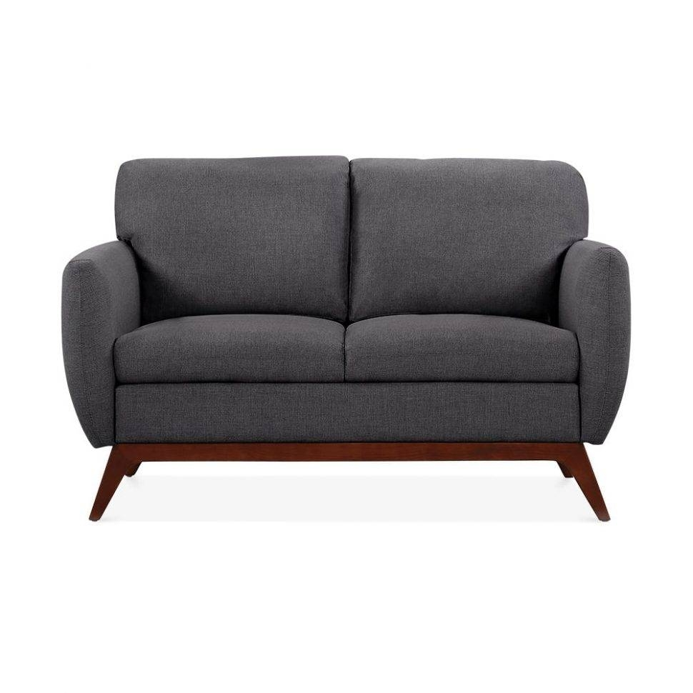 Sofas Center : Jensen Seater Small Sofa Fabric Upholstered Dark throughout Small 2 Seater Sofas (Image 22 of 30)