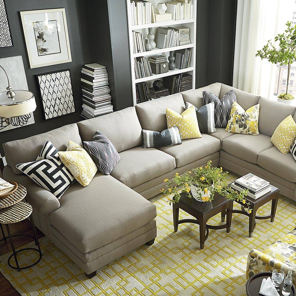Sofas Center : Large Scale U Shaped Sectional Sofa Set Many Fabric in Bassett Sectional Sofa (Image 22 of 30)