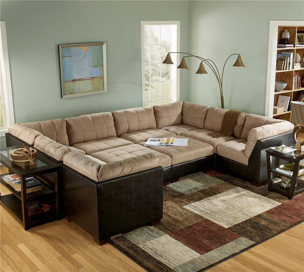 Sofas Center : Large Sectional Sofa With Ottoman Selig Chaise in Sectional Sofa With Large Ottoman (Image 23 of 30)