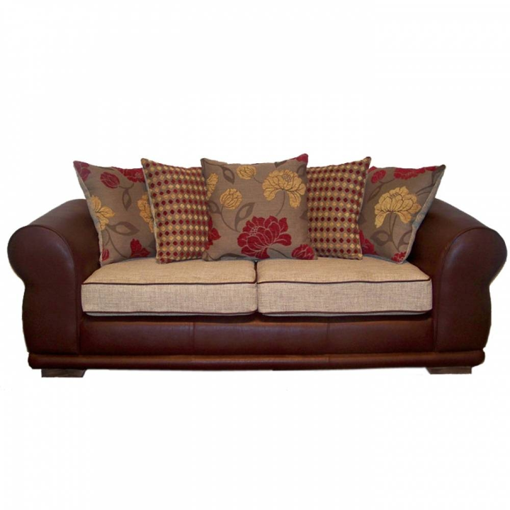 Sofas Center : Leather And Fabric Sofas With Sofa Stupendous with regard to Leather and Cloth Sofa (Image 24 of 25)
