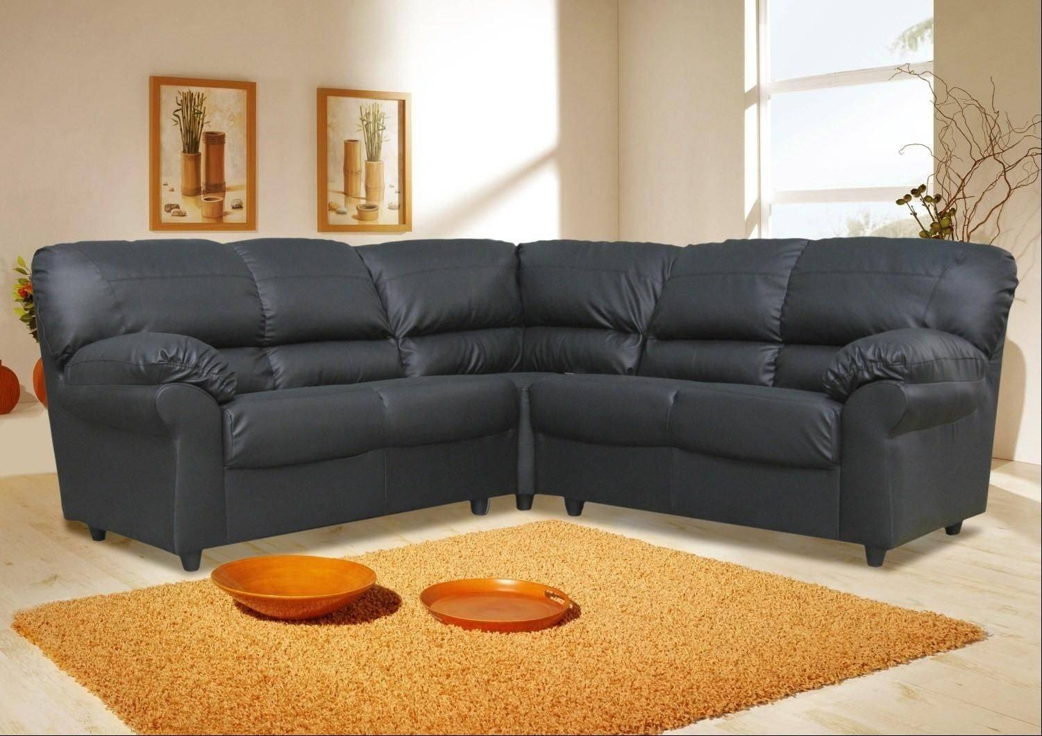 Sofas Center : Leather Corner Sofas Sale Clearance Brown Uk Ikea pertaining to Large Black Leather Corner Sofas (Image 25 of 30)
