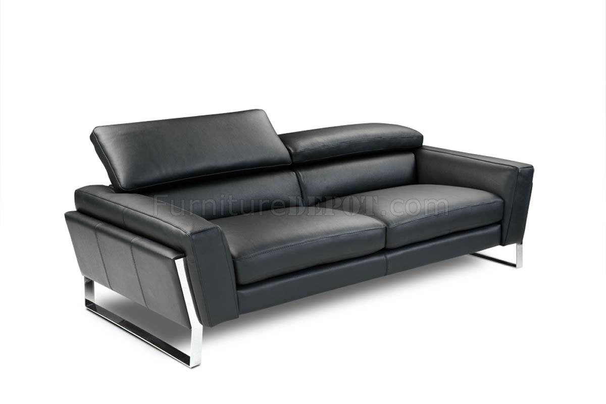 Sofas Center : Leather Sofack Faux Couches Chairs Ottomans Ikea intended for Contemporary Black Leather Sofas (Image 25 of 30)