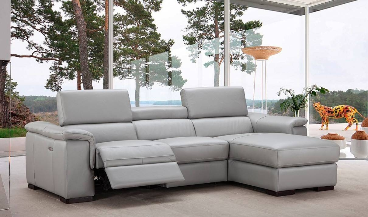 Sofas Center : Light Gray Leather Sectional Sofalight Grey Sofa pertaining to Gray Leather Sectional Sofas (Image 29 of 30)