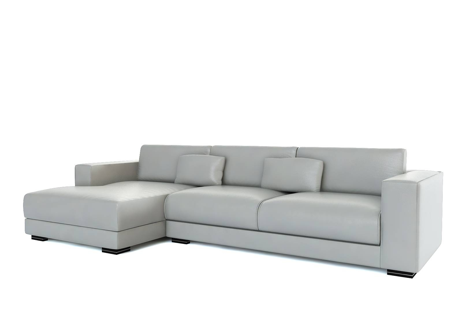 Sofas Center : Light Grey Aspen Leather Sofa Modern Gray Sectional intended for Aspen Leather Sofas (Image 24 of 30)