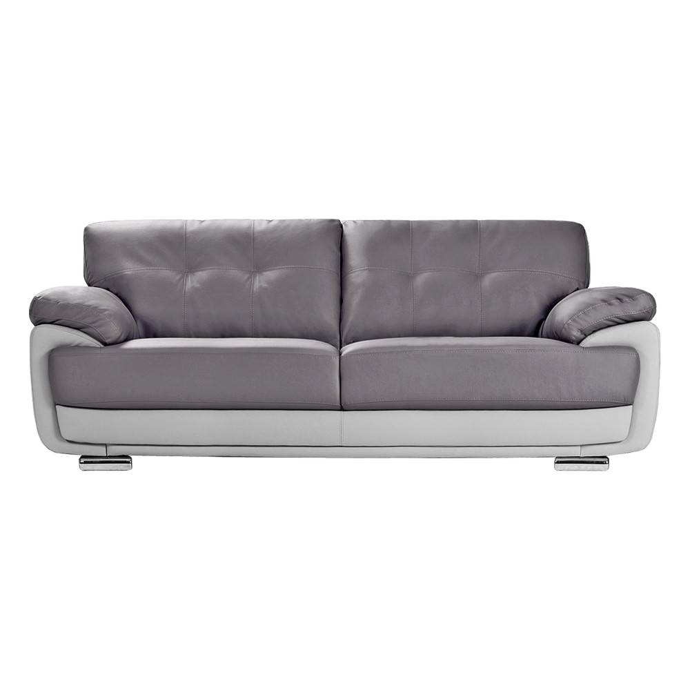Sofas Center : Light Grey Aspen Leather Sofa Modern Gray Sectional throughout Aspen Leather Sofas (Image 25 of 30)