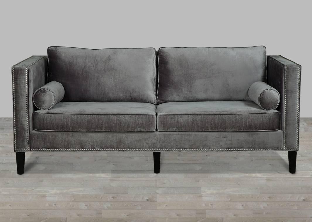 Sofas Center : Marvelous Black Velvet Sofa Picture Design Meridian intended for Black Velvet Sofas (Image 27 of 30)
