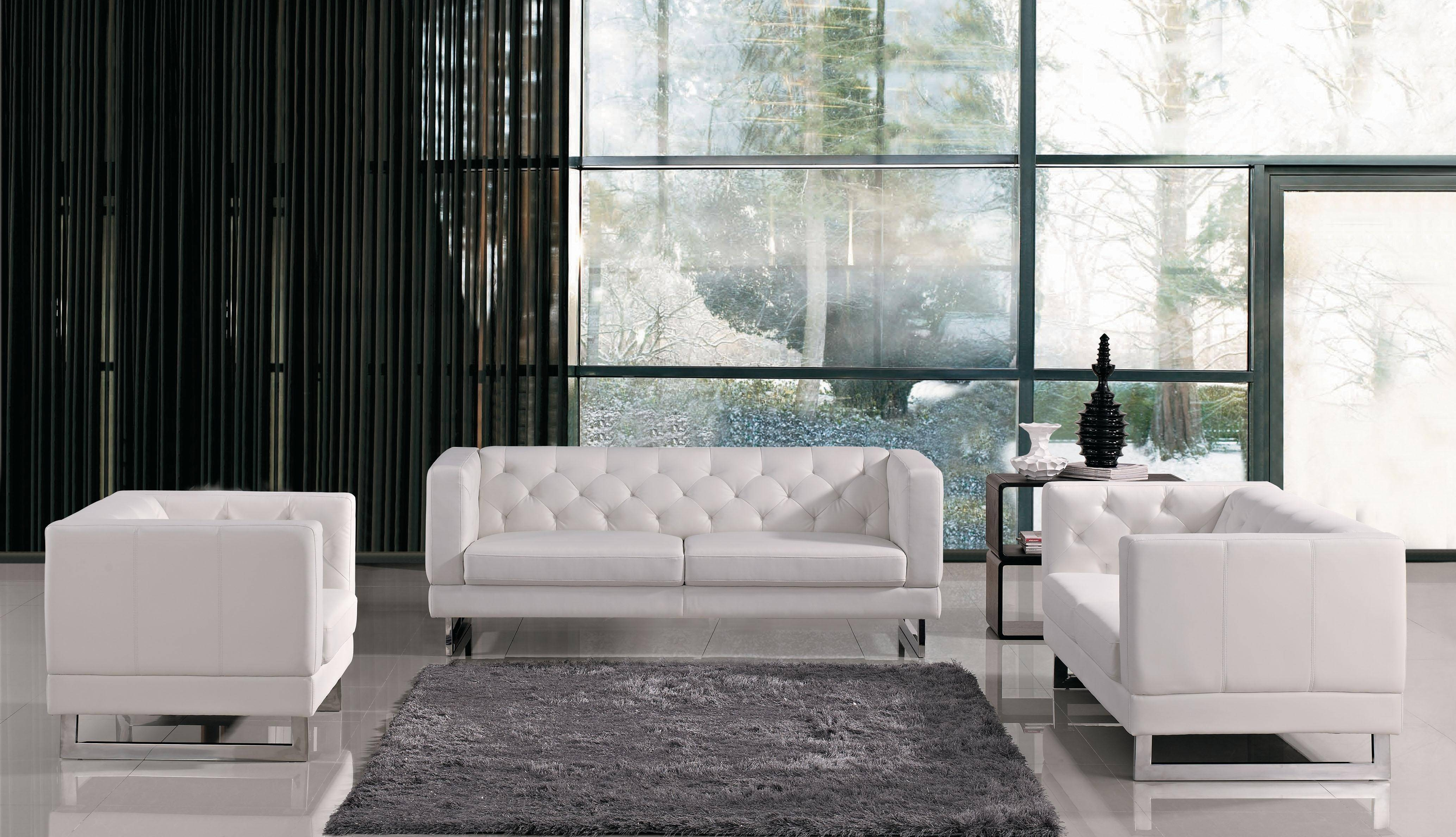 Sofas Center : Modern White Leather Sleeperfa Contemporary within Long Modern Sofas (Image 27 of 30)