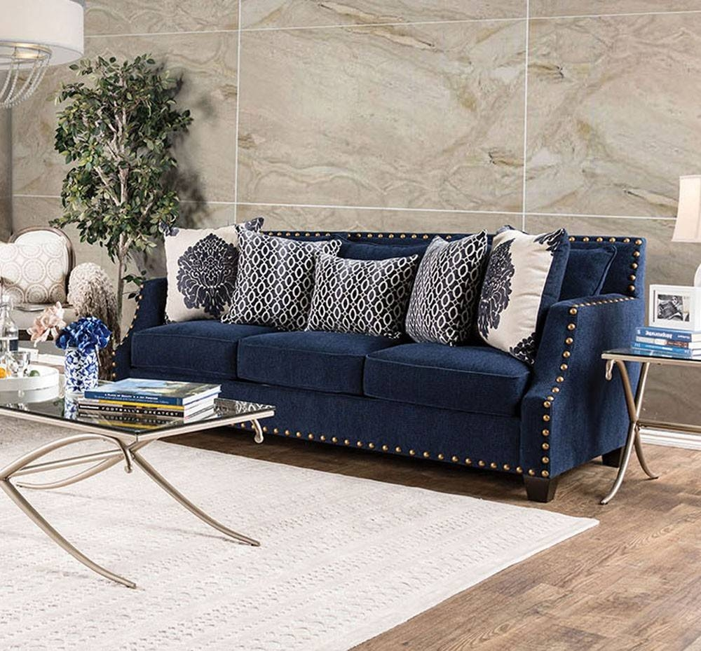Sofas Center : Navy Blue Sofa Dark Pillows And Loveseatnavy Chaise within Dark Blue Sofas (Image 28 of 30)