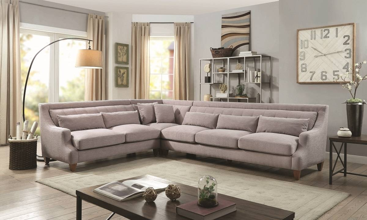 Sofas Center : Piece Sectional Sofa Beds Cladio Hickory Set regarding 3 Piece Sectional Sofa Slipcovers (Image 31 of 33)