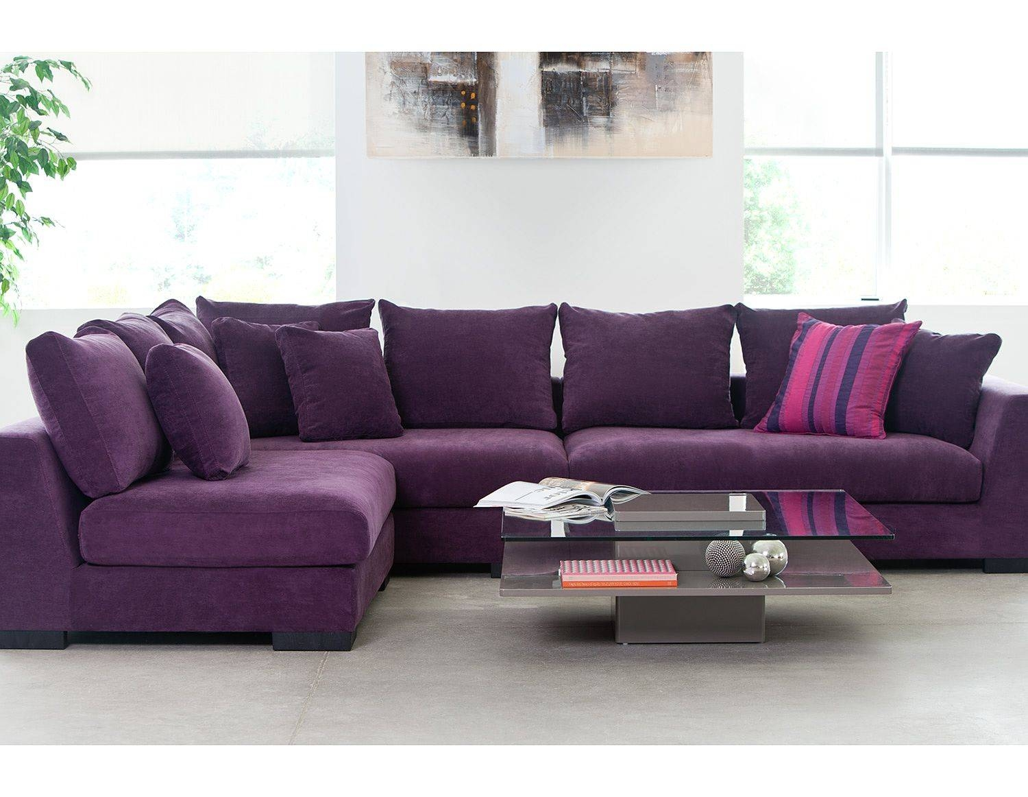 Sofas Center : Purple Sofa Set Sectional Leather Sofas For Sale with regard to Eggplant Sectional Sofa (Image 30 of 30)
