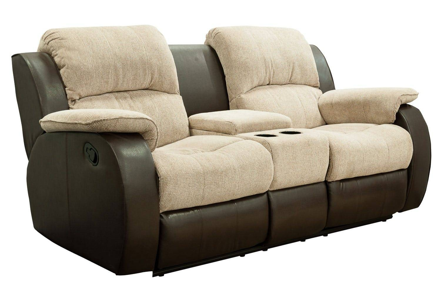 Sofas Center : Reclining Sofa With Console Double Power Recliner Pertaining To Sofas With Consoles (View 18 of 30)