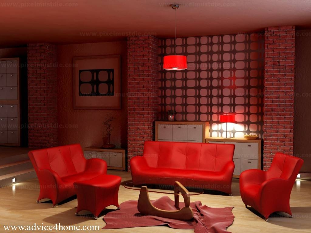 Sofas Center : Red Sofa Set Rooms With Leather Couch Google Search in Red Sofas and Chairs (Image 28 of 30)
