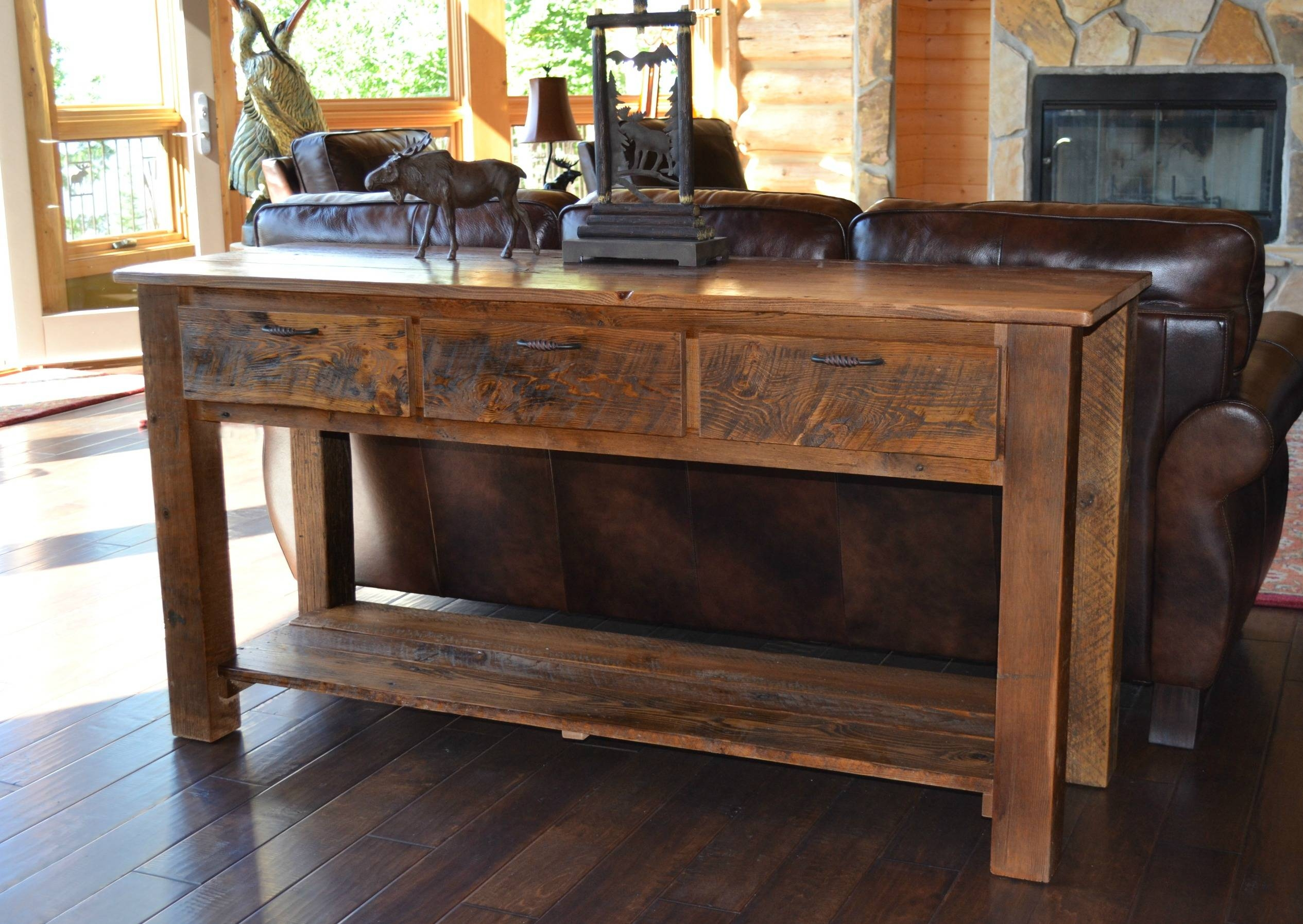 Sofas Center : Rustic Sofa Table Console Warm And Beautiful Tables with regard to Sofas With Consoles (Image 27 of 30)