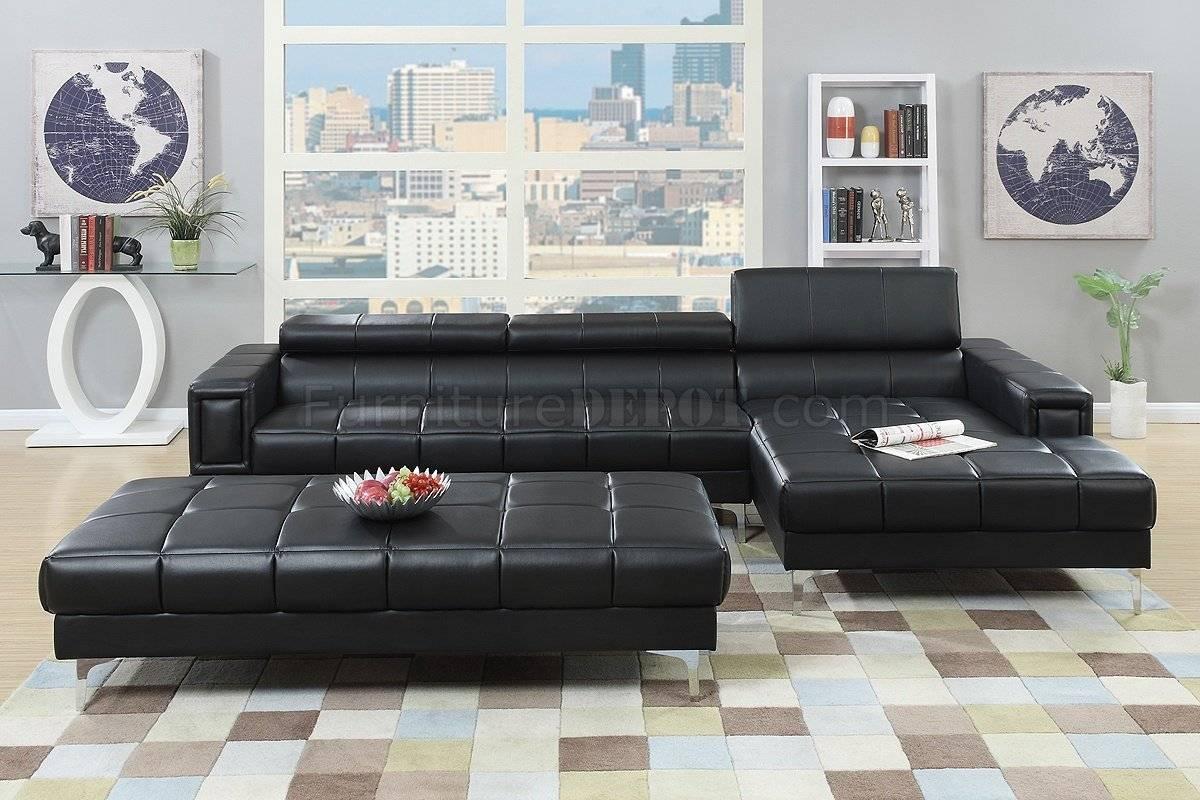 Sofas Center : Shocking Black Leather Sectional Sofa Photos pertaining to Dobson Sectional Sofa (Image 29 of 30)