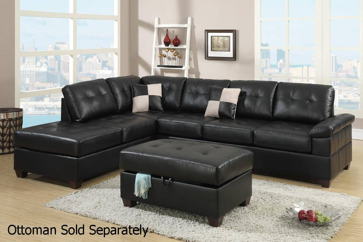 Sofas Center : Shocking Black Leather Sectional Sofa Photos regarding Black Sectional Sofa For Cheap (Image 26 of 30)