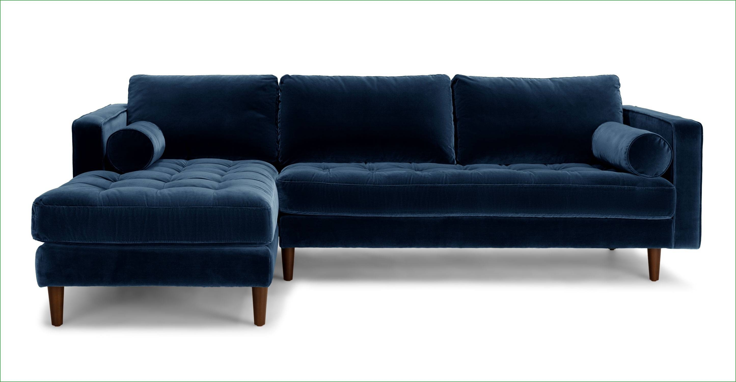 Sofas Center : Sven Cascadia Blue Leftional Sofaionals Article throughout Tufted Sectional Sofa With Chaise (Image 26 of 30)