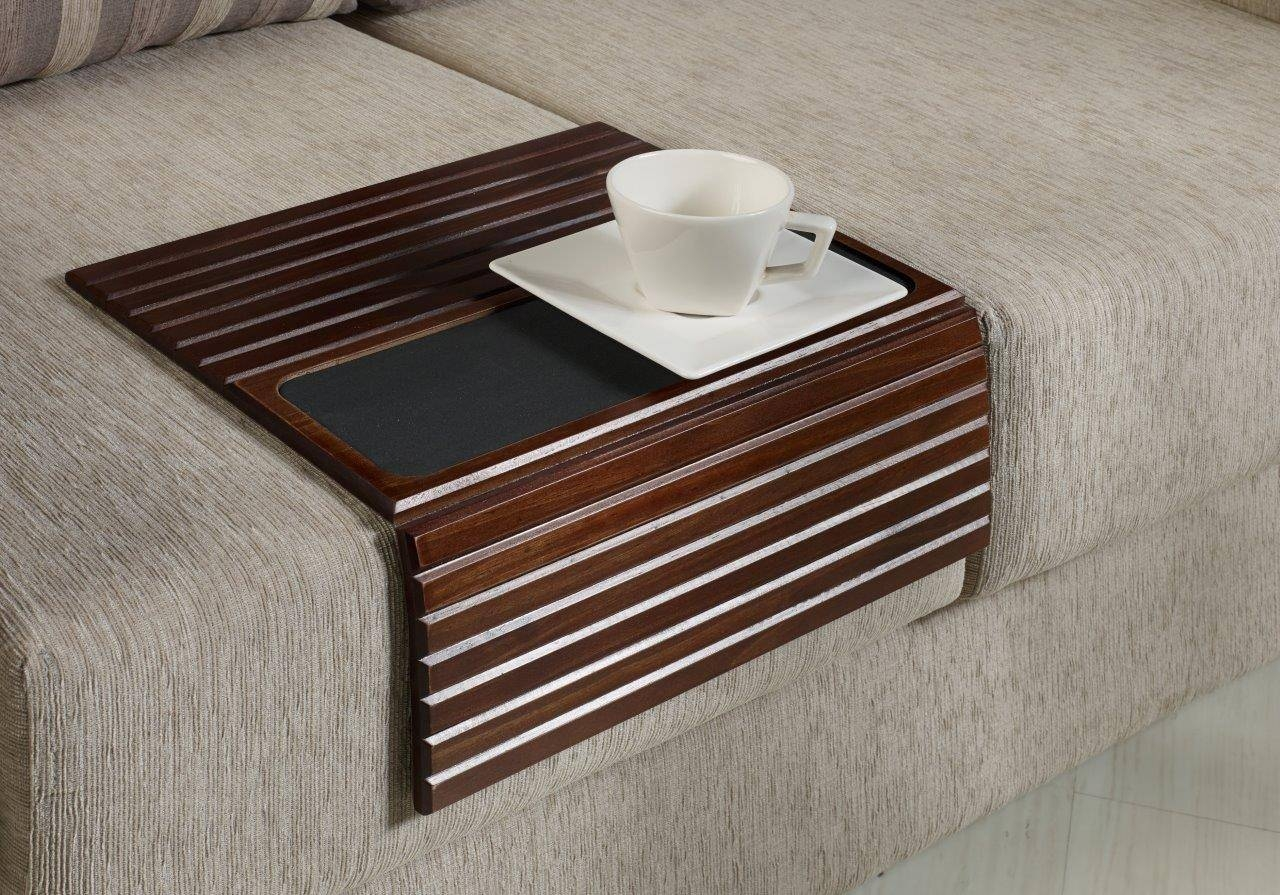 Sofas Center : Terrific Snack Table With Textural Wood Top in Sofa Snack Tray Table (Image 27 of 30)