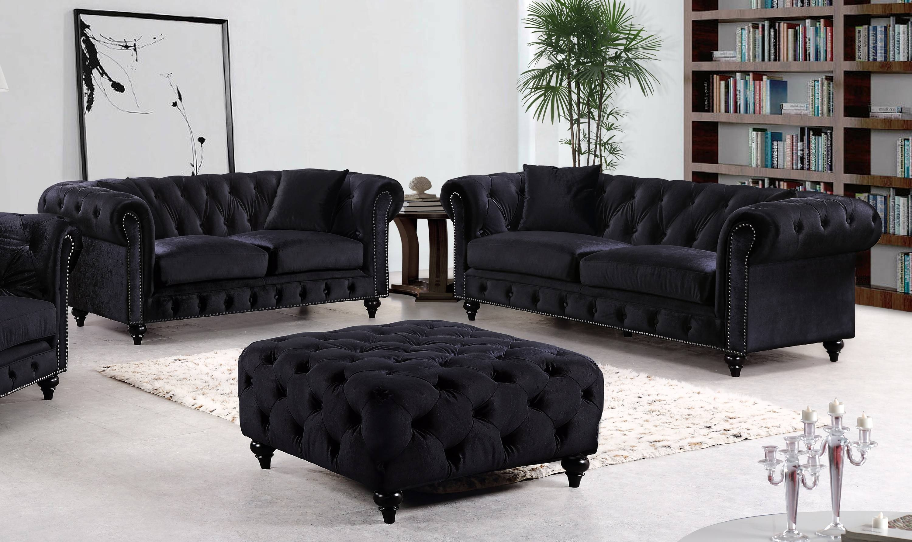 Sofas Center : Tov S100 Grey Velvet Sofa From Coleman Furniture within Black Velvet Sofas (Image 29 of 30)