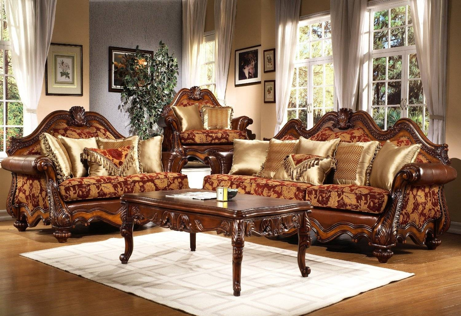 Sofas Center : Traditional Sofa Sets Foriving Room Creameather with regard to Traditional Sofas for Sale (Image 22 of 30)